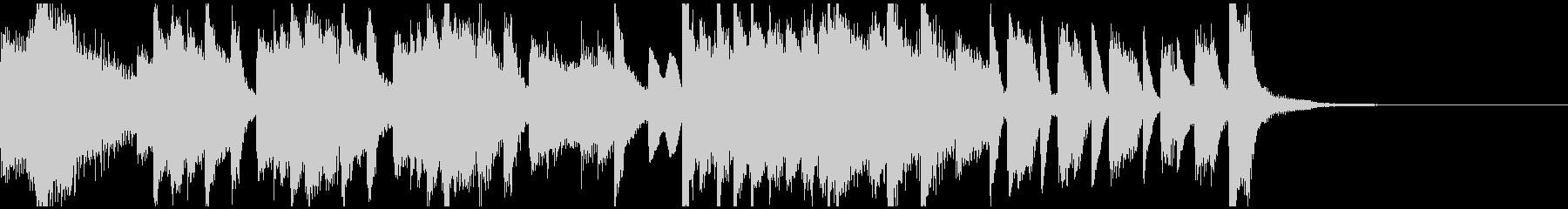 激しく明るいピアノソロ・ジングルの未再生の波形