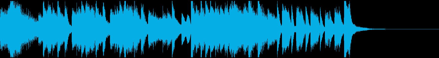 激しく明るいピアノソロ・ジングルの再生済みの波形