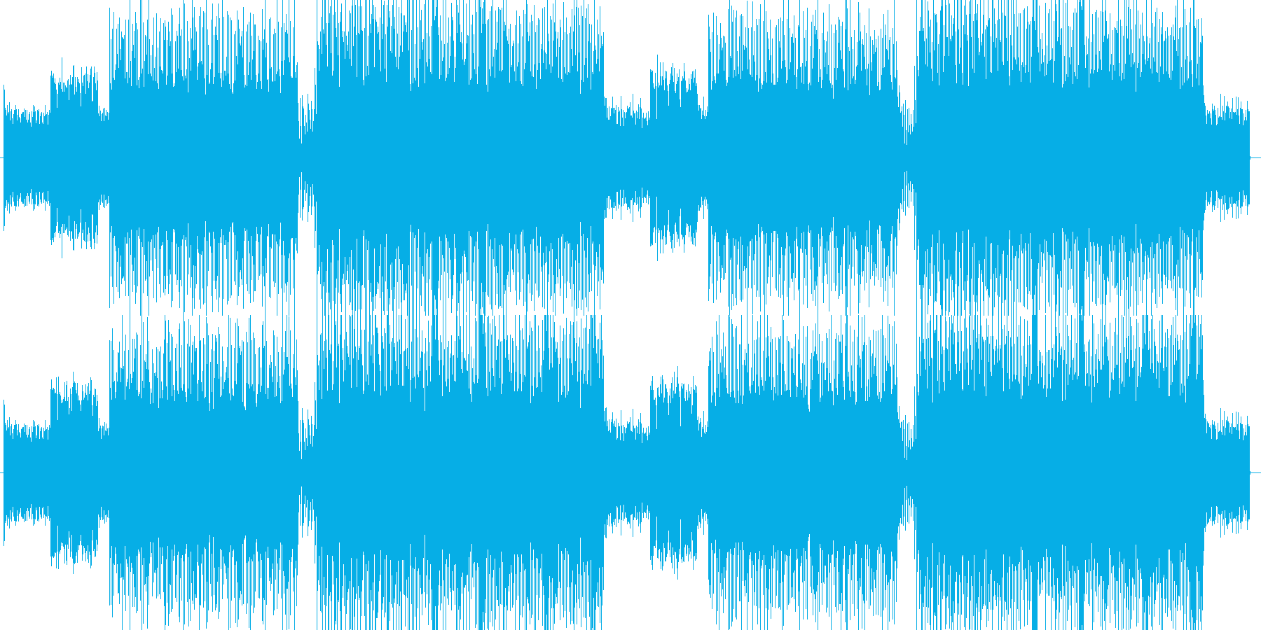 「HR/HM」「ROCK」BGM220の再生済みの波形
