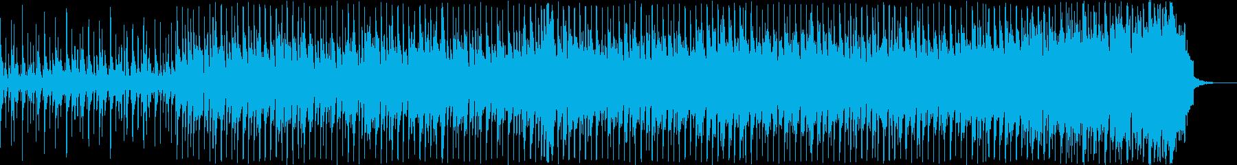 ピアノ、ギター、ベース、ドラム、ス...の再生済みの波形
