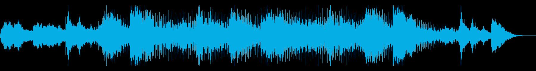 ダークでホラー向けなテクスチャの再生済みの波形