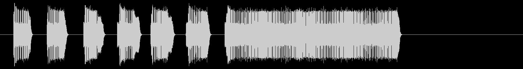 ファミコン風ゲームクリアの効果音の未再生の波形