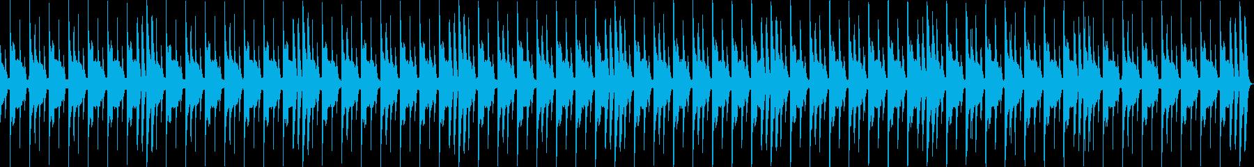 パーカッション系のループ(コミカル)の再生済みの波形