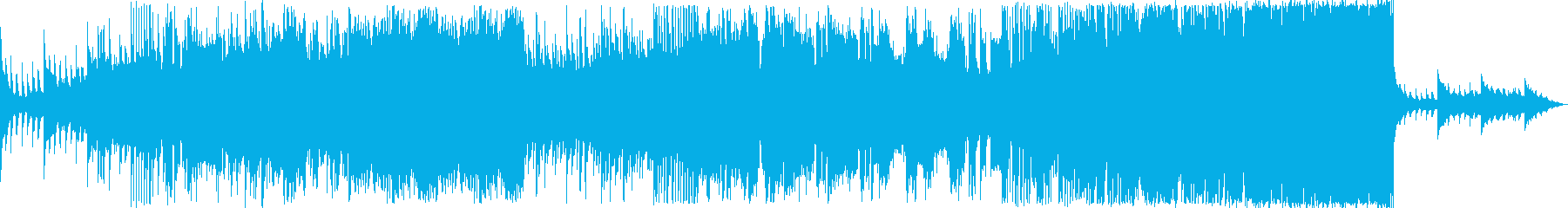 Rocky BGM with a powerful and challenging image's reproduced waveform