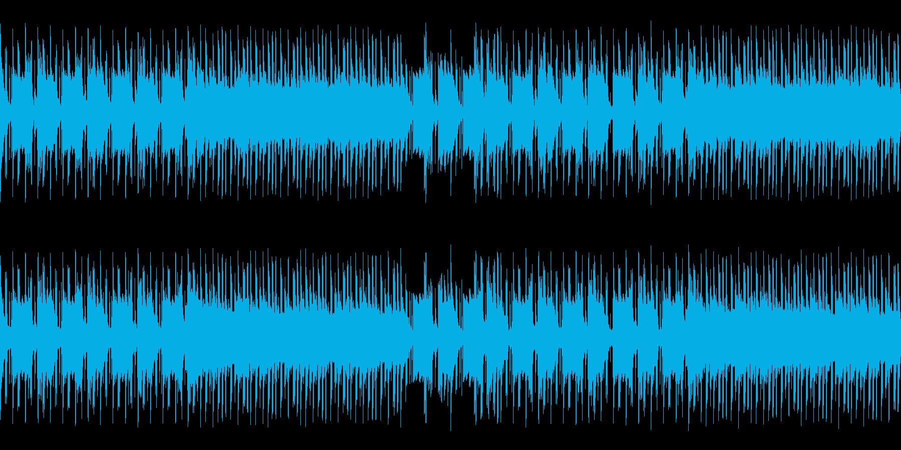 和風+ヒップホップなシンプルインスト楽曲の再生済みの波形