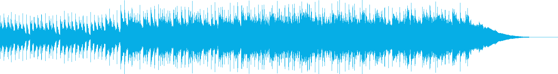 キャッチーなロックの曲の再生済みの波形