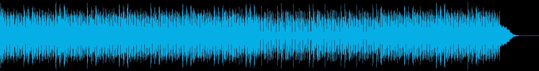 サイバーでダンサブルな曲の再生済みの波形