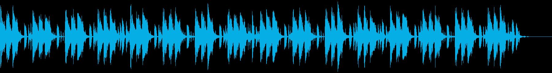 おしゃれ優しいYouTubeエンディングの再生済みの波形