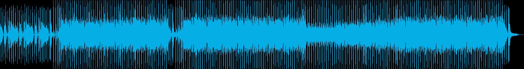 ギターが特徴的な明るめトラックの再生済みの波形