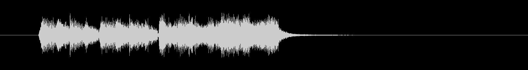 ひょうきんなオーケストラBGMの未再生の波形