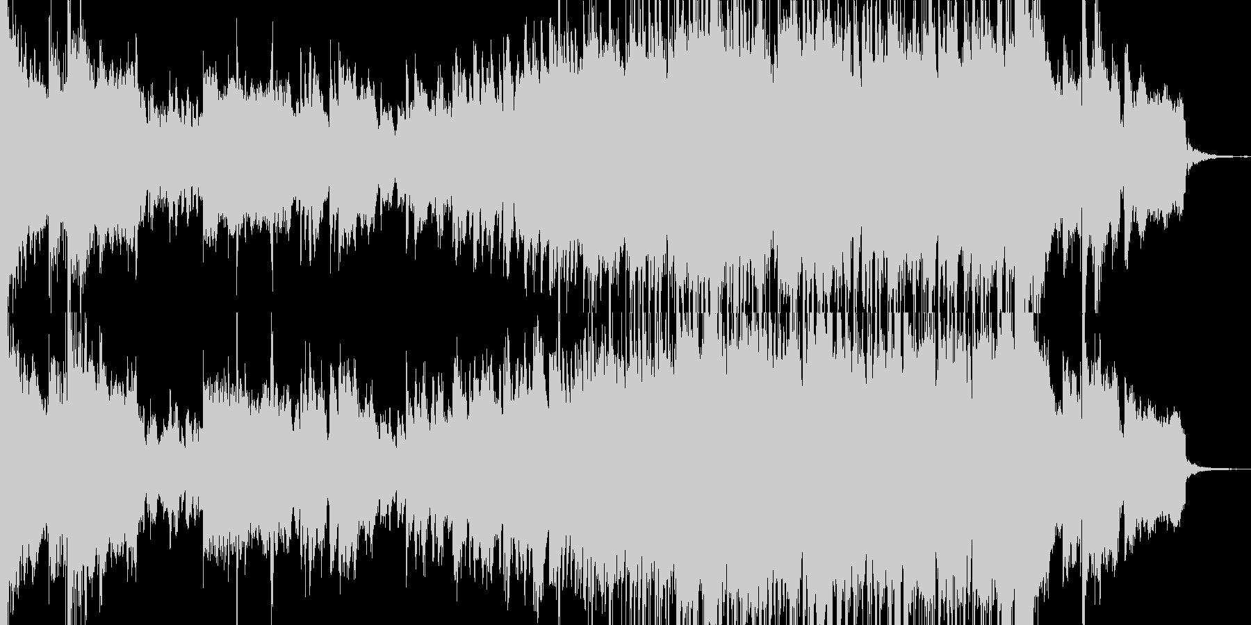 80年代風なサックスメロディーの曲の未再生の波形