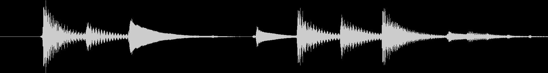 場面切り替えに使えそうなジングルの未再生の波形