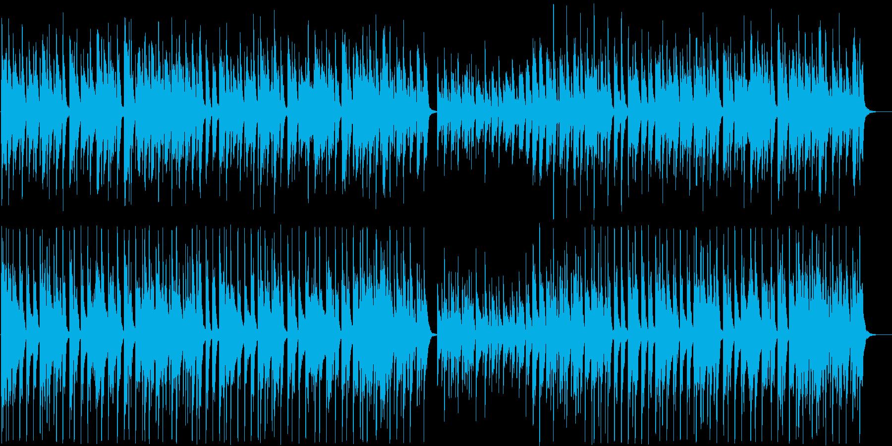 ほのぼの系シンセサイザーサウンド短めの再生済みの波形