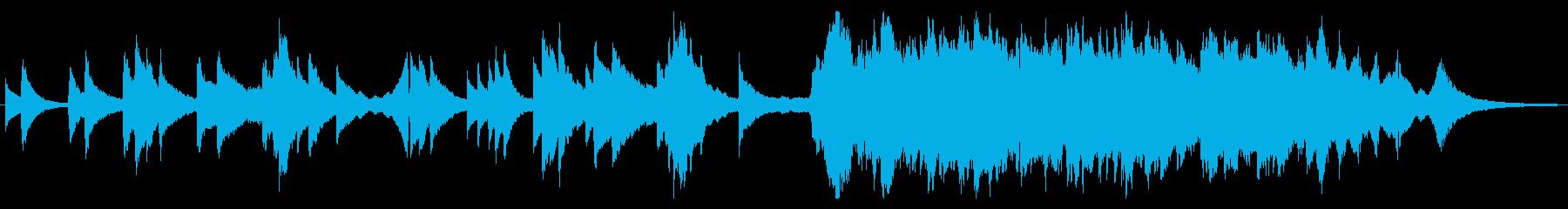 チェロとピアノの美しいインスト曲の再生済みの波形