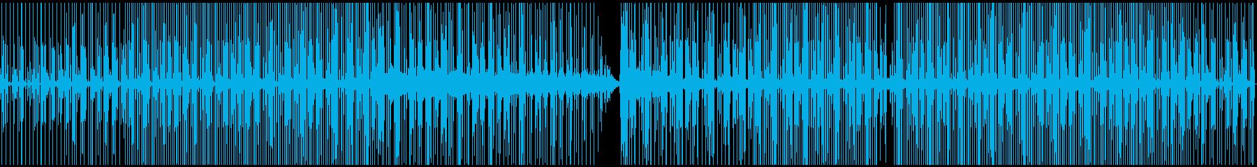 無機質でゆったりとしたテクノの再生済みの波形