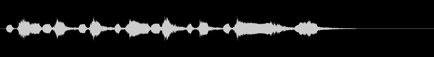ジングル口笛が印象的な明るいサウンドロゴの未再生の波形