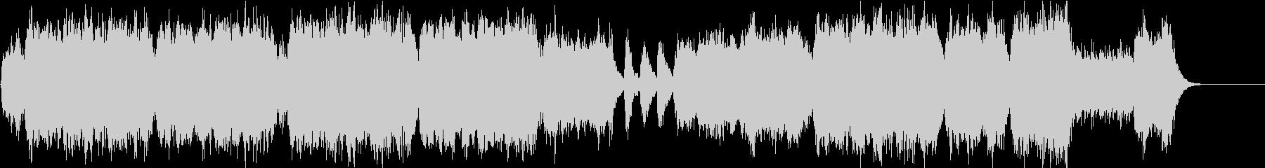 管楽器の旋律がパワフルなポップスの未再生の波形