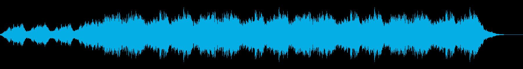 何かを思わせるBGMの再生済みの波形