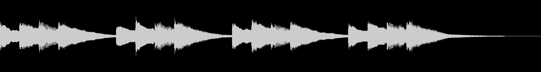 学校のチャイム音の未再生の波形