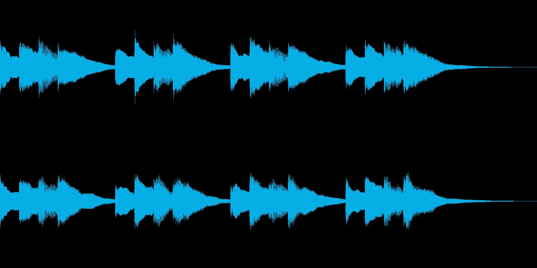学校のチャイム音の再生済みの波形