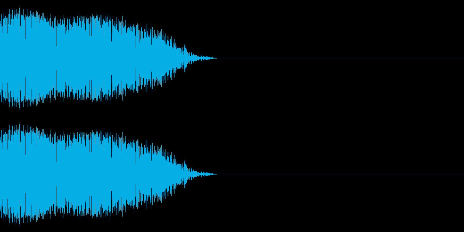 シュバッ(瞬間移動/飛び跳ねる/手裏剣)の再生済みの波形