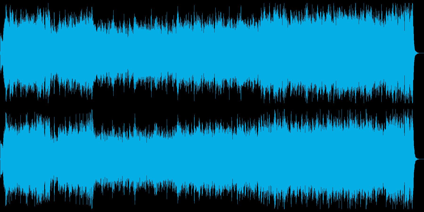 雄大で荘厳なファンファーレ&行進曲の再生済みの波形