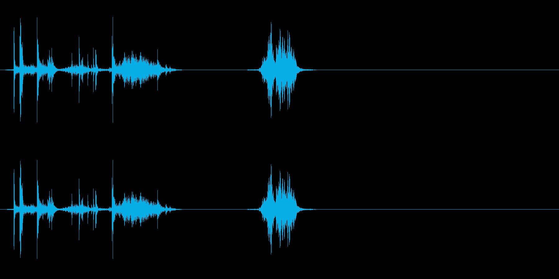 ウイスキーキャップ(閉める音)の再生済みの波形