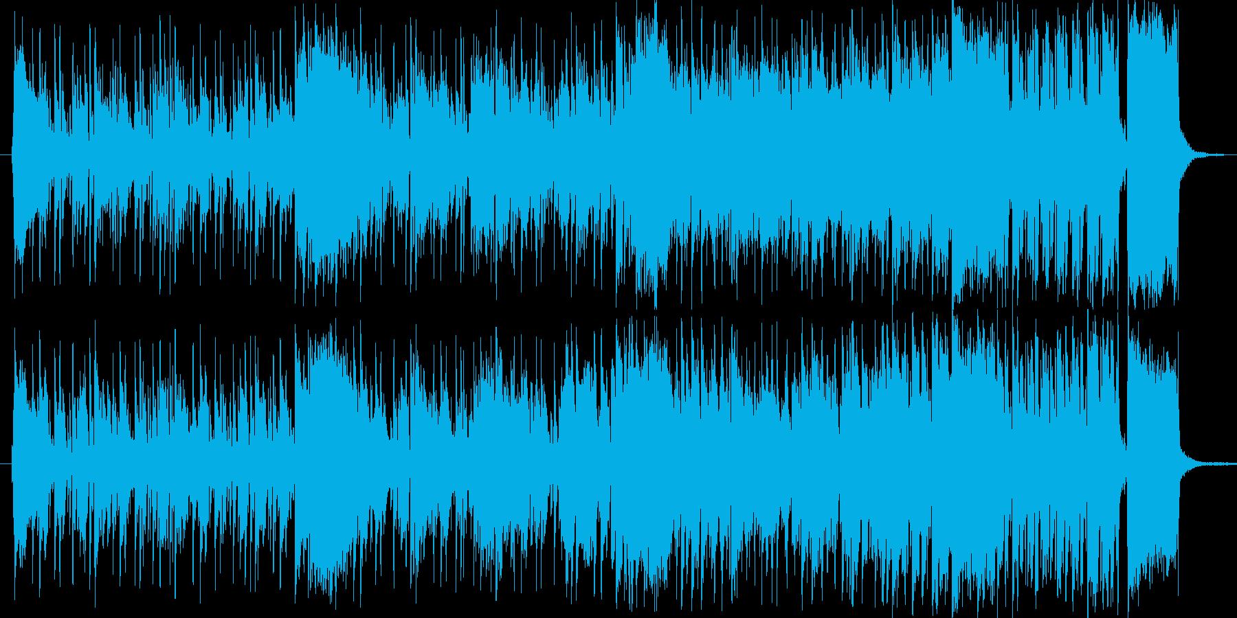 CMや紹介ムービー等を想定した1分の楽曲の再生済みの波形