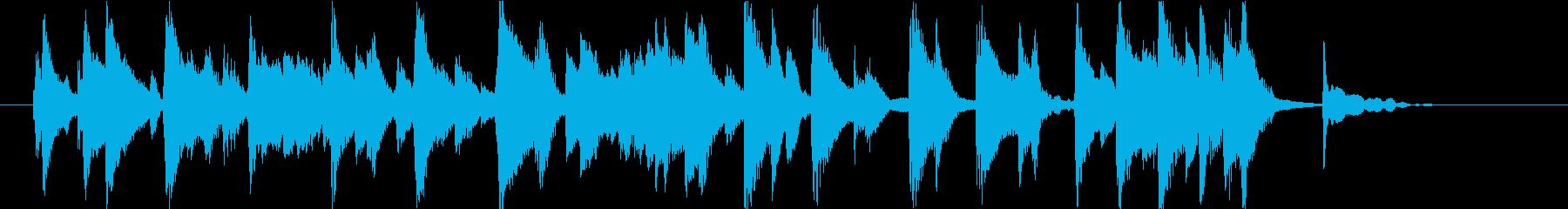 くだけた印象のピアノの再生済みの波形