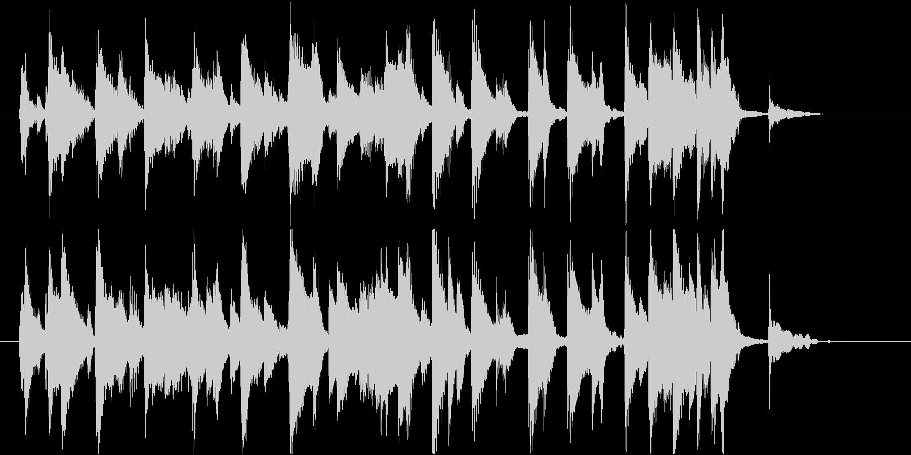 くだけた印象のピアノの未再生の波形