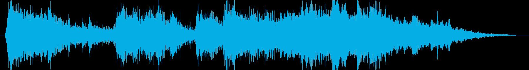 緊迫感のあるオーケストラジングルの再生済みの波形