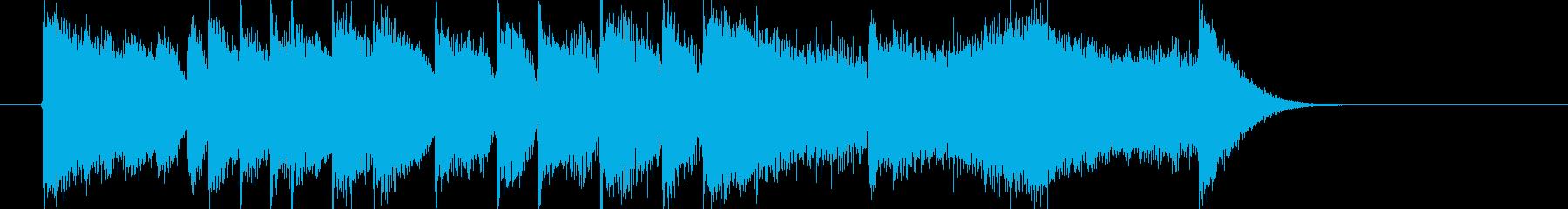 煌びやかでメロディアスなジングルの再生済みの波形