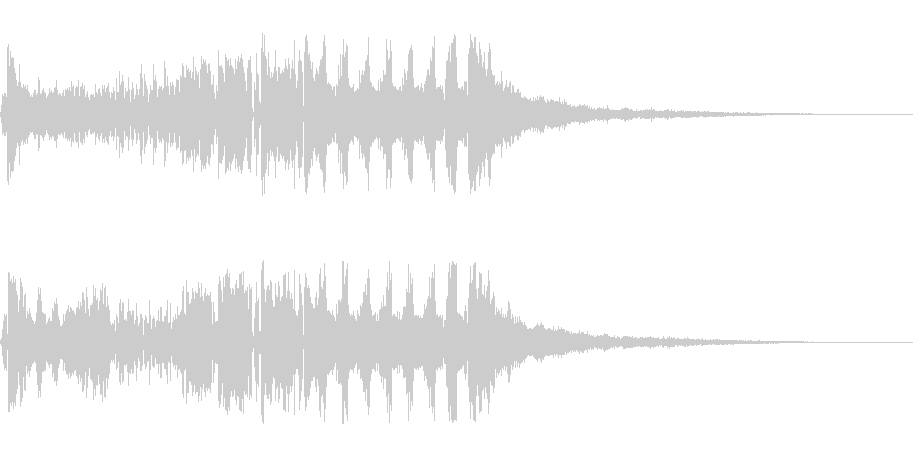 【DJジングル・EDM】オープニングBの未再生の波形