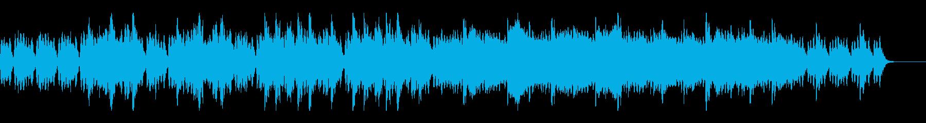 映像やCMなどに、透明感のあるBGMの再生済みの波形