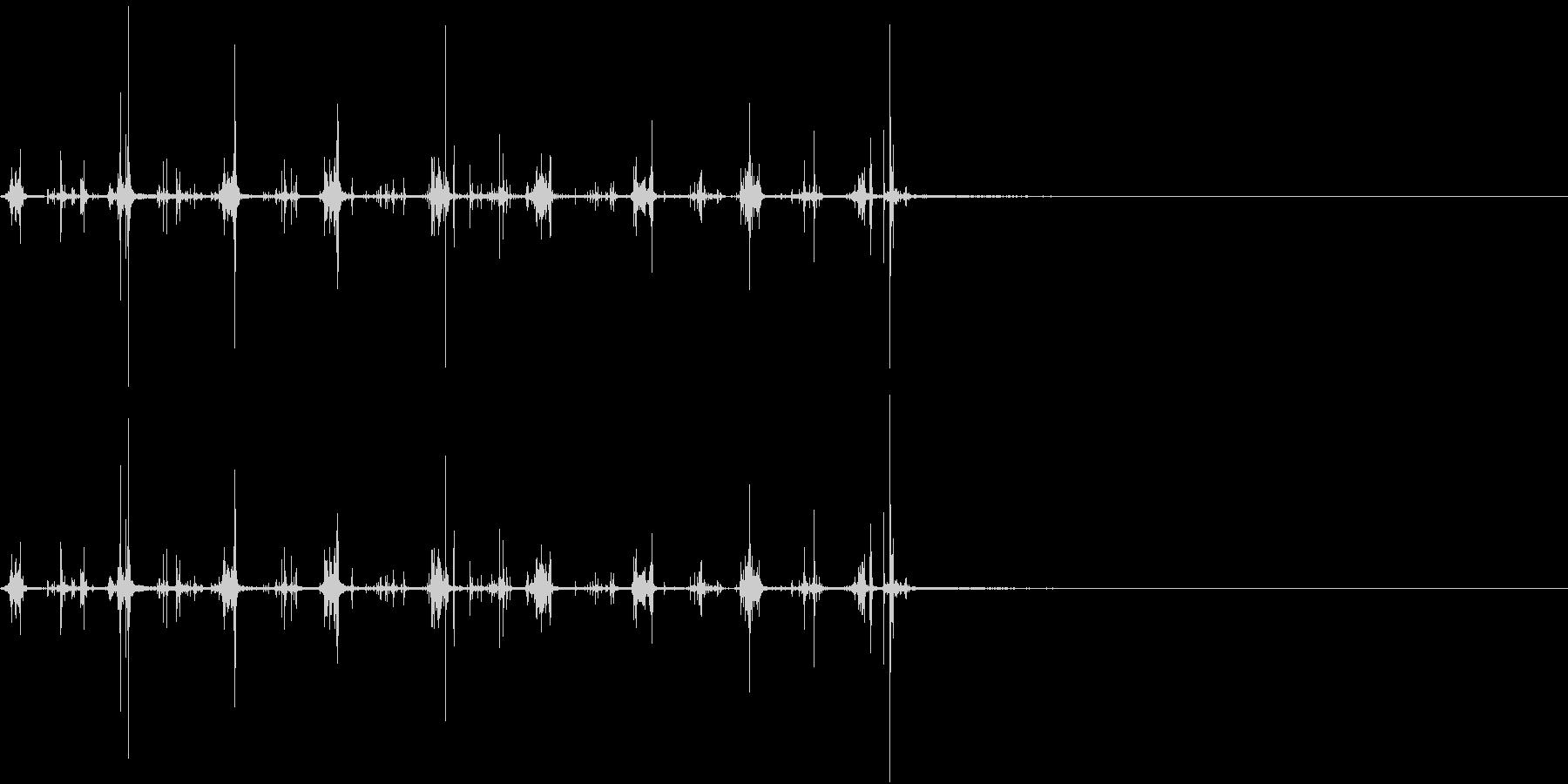 【生録音】何かを洗う音 1 石鹸 泡の未再生の波形