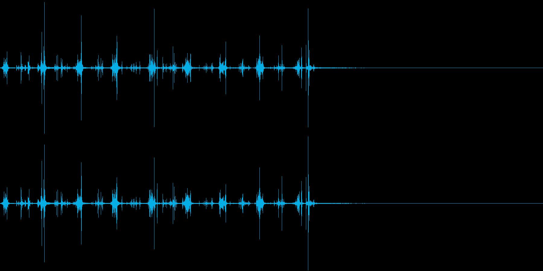 【生録音】何かを洗う音 1 石鹸 泡の再生済みの波形