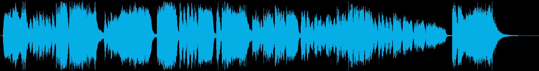 粋でイナセな和風ファンファーレ栄光の祭典の再生済みの波形