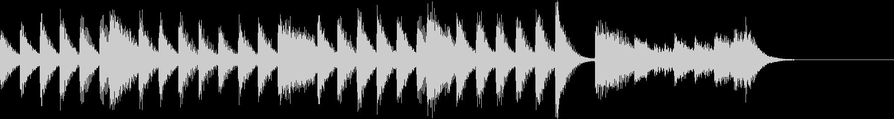 パワー&ダイアトニックのピアノジングルの未再生の波形