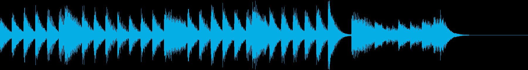 パワー&ダイアトニックのピアノジングルの再生済みの波形