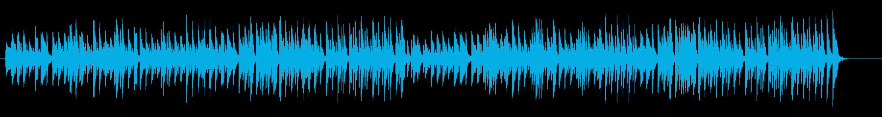 ルンルン気分の軽快でかわいらしい曲の再生済みの波形