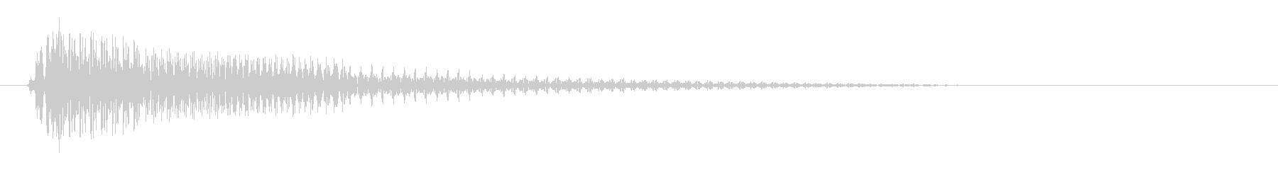 ピョロン電子音効果音の未再生の波形