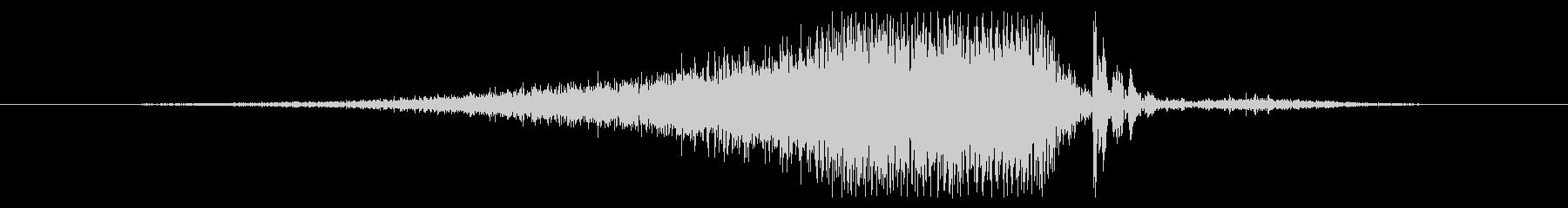 エアバーストリリースの影響の未再生の波形