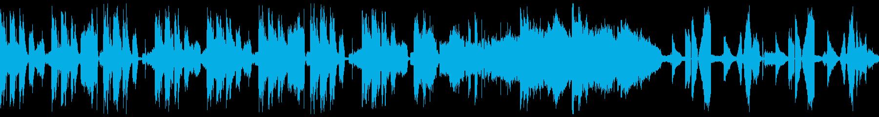 [ループ]水、雨のをイメージした曲の再生済みの波形