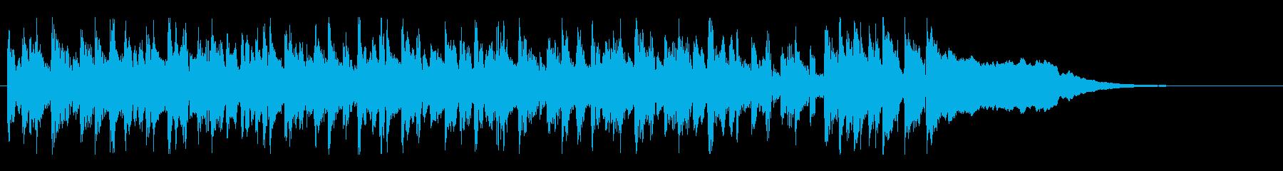 ポップで明るい短めのBGMの再生済みの波形