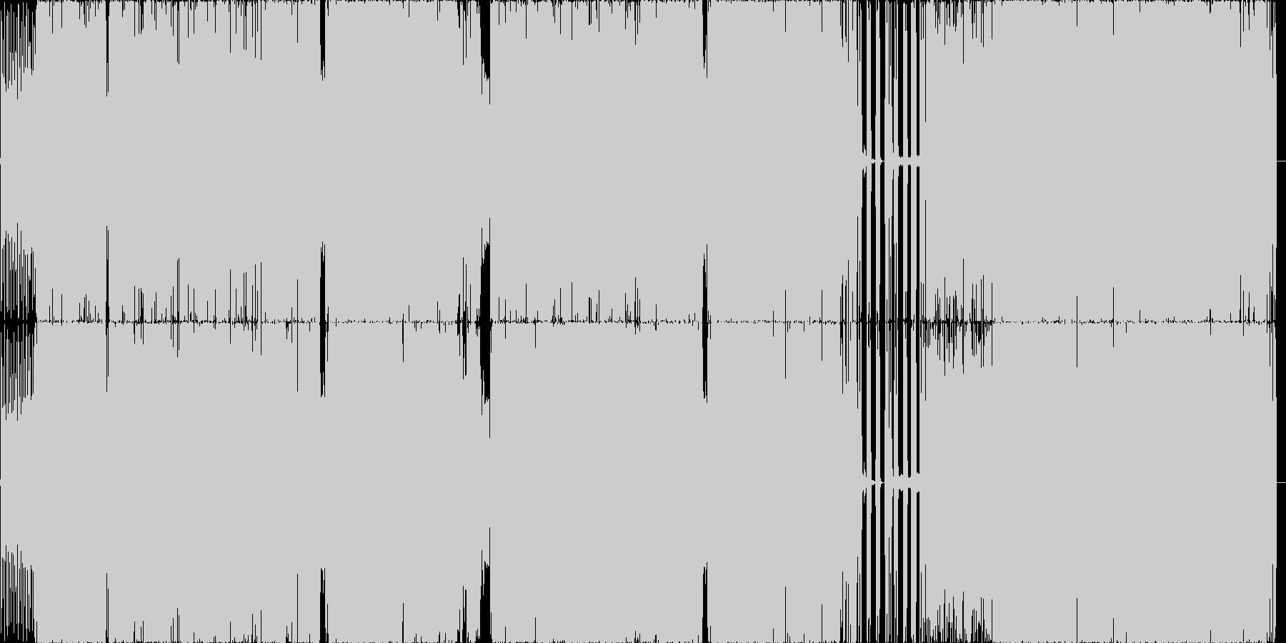 サビのハーモニー推し四分打ちbeatの未再生の波形