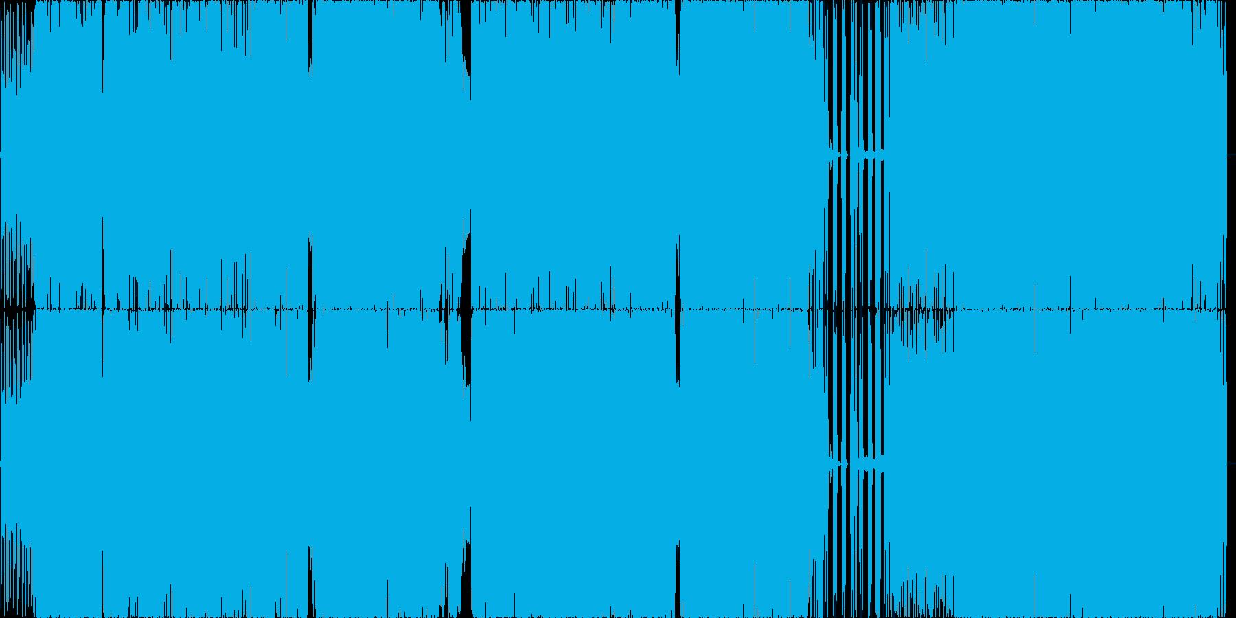 サビのハーモニー推し四分打ちbeatの再生済みの波形