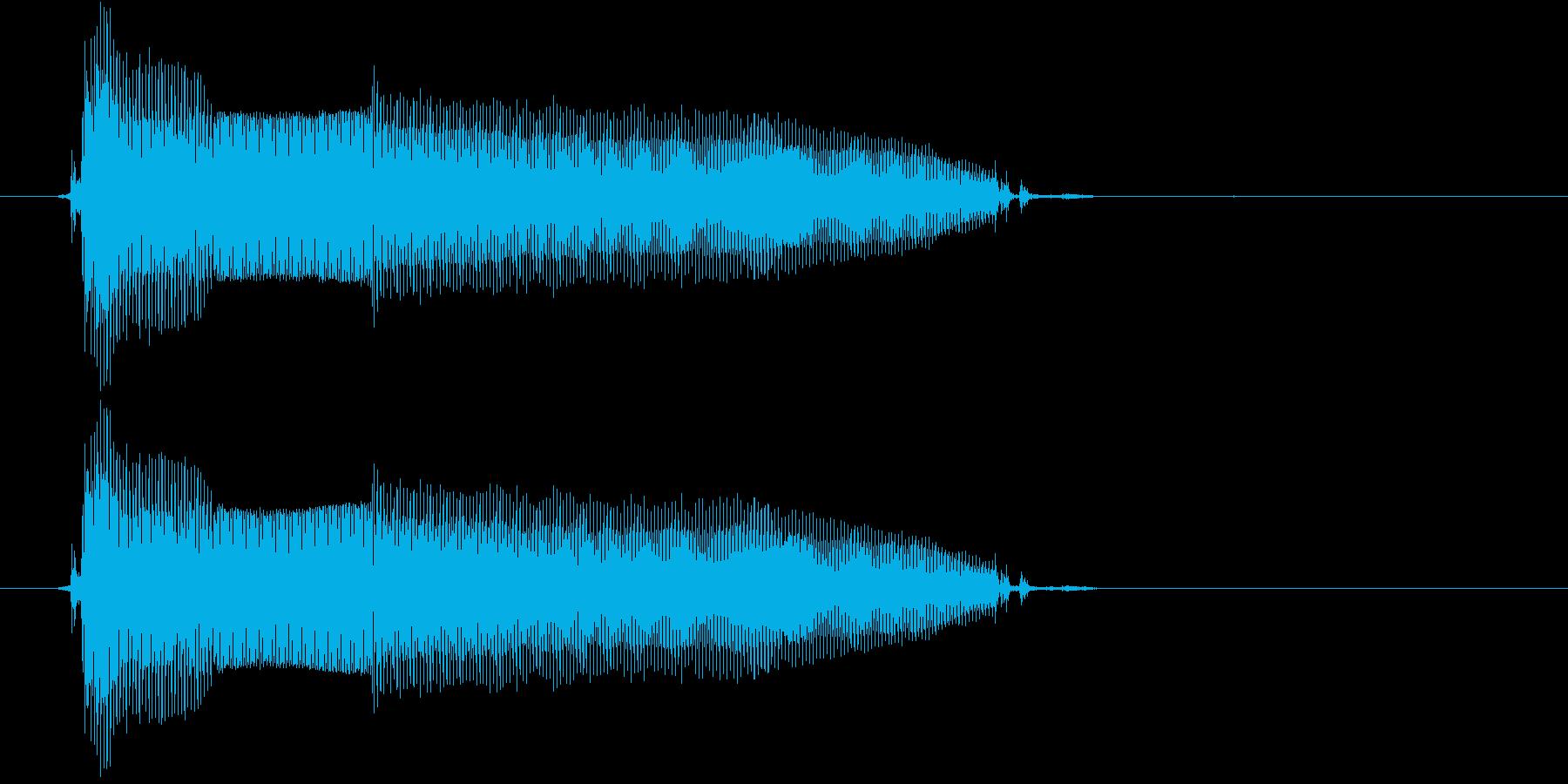 だめー(2歳児の生声です)の再生済みの波形