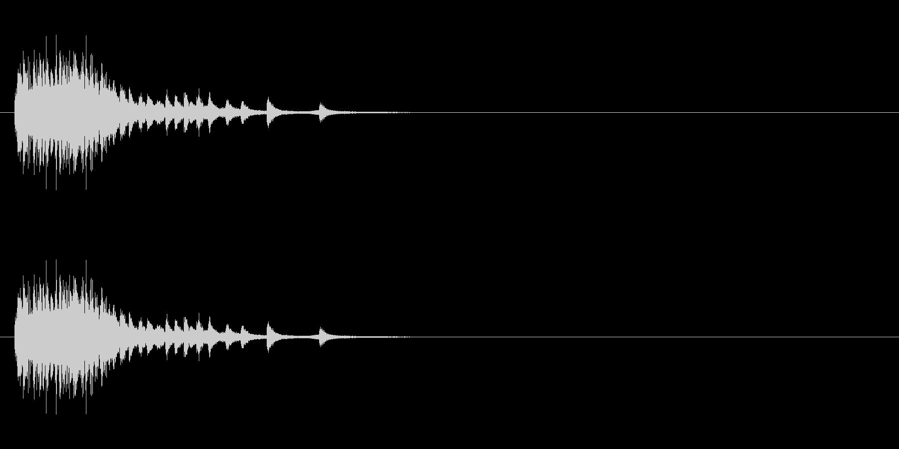 ホラー サスペンスなどの効果音に最適3の未再生の波形