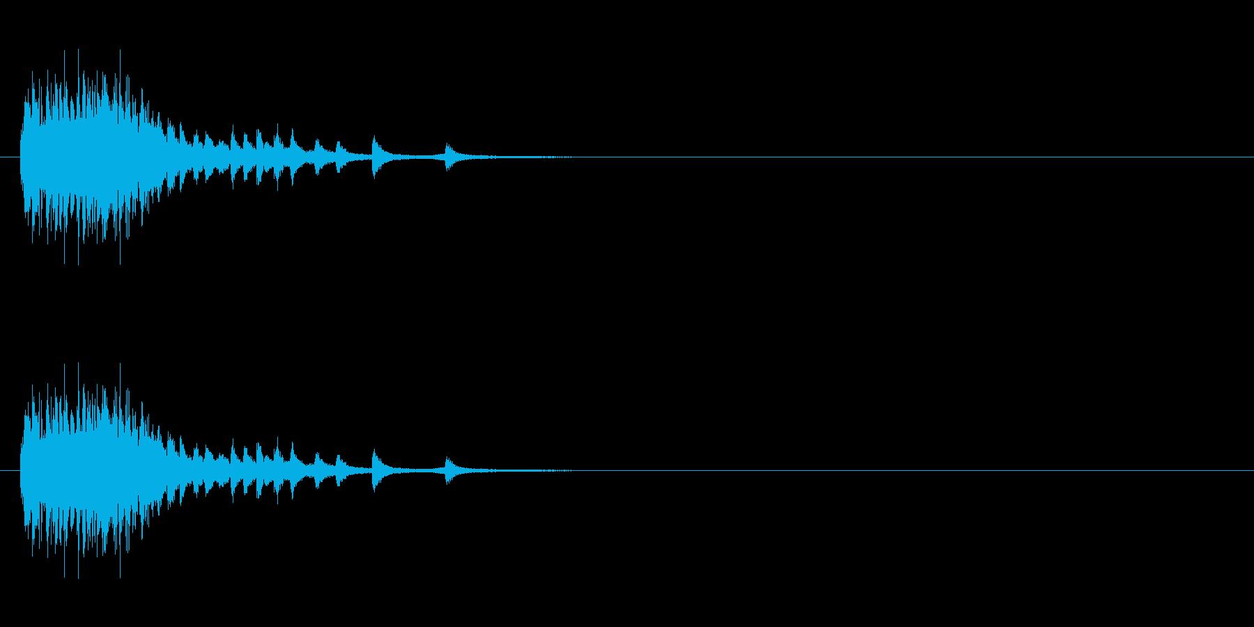 ホラー サスペンスなどの効果音に最適3の再生済みの波形