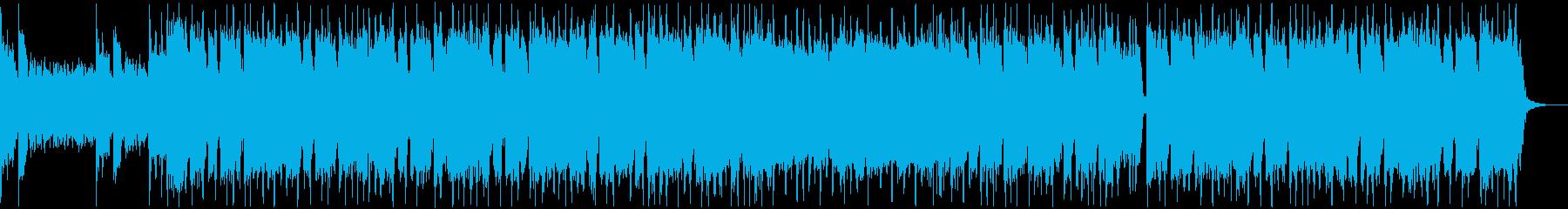 バトルシーン向きのグルーブメタルの再生済みの波形